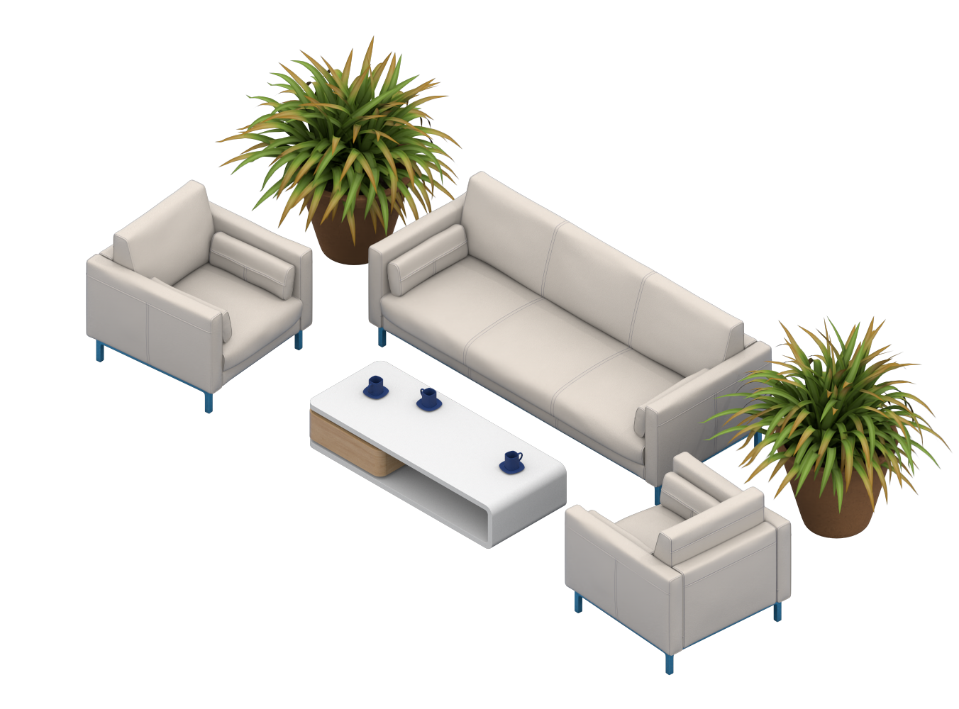 Isometric Couch Illustration